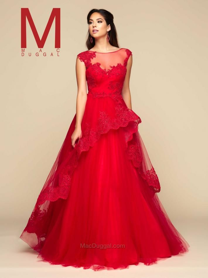 Red Ball Gown | Mac Duggal 48233H | Ball Gowns 2018 | Pinterest ...