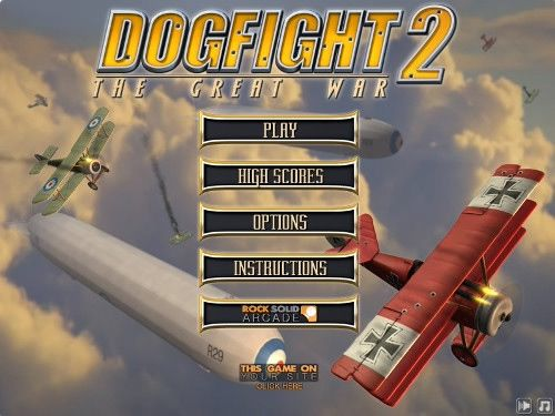 Dogfight 2 flight games online.Dog Fight 2 description: Fight against enemy planes and bomb vehicles below.
