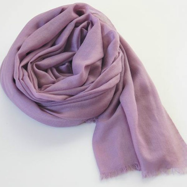 Thin Purple Scarves Solid Color Cashmere Shawl