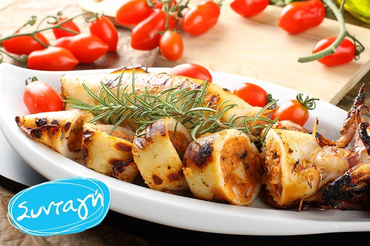 Squid stuffed with greek salad paste! See the full recipe! Καλαμάρι γεμιστό με χωριάτικη σαλάτα! Δες την ολοκληρωμένη συνταγή!   @wisegreece #wisegreece #recipe #greeksalad #sauce #greek #product #fun #food #socialgood #actwise