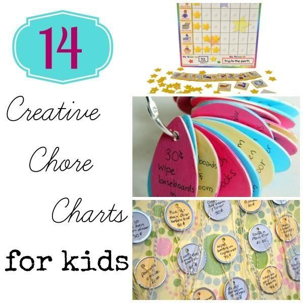 14 graphiques Creative corvée pour les enfants
