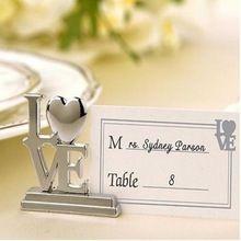 Amor del corazón tarjeta del lugar titulares Place Card Engage boda vector de la decoración(China (Mainland))