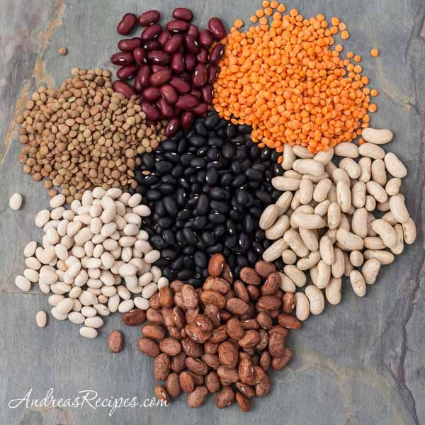 Handy chart for cooking dried beans and legumes. Budget-friendly, flavorful, and perfect for #Sabbath #haystacks!