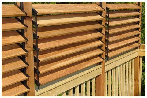 Creative DIY Fence Outdoor Project Idea. Louvered Hardware Idea: Decks, Fences, Pergolas, Hot Tub Privacy