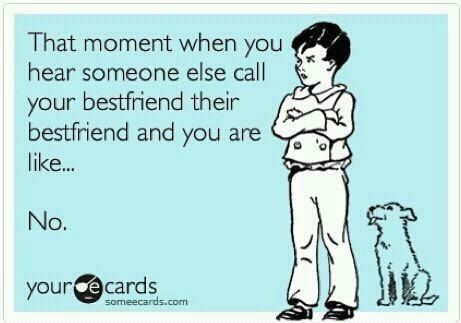 """Or when you realize your best friends doesn't know that best friend is two words so you don't know if he/she can remain your best friend because it bugs you so much.  Then you see your best friend use """"friend"""" and """"their,"""" and your decision is made."""