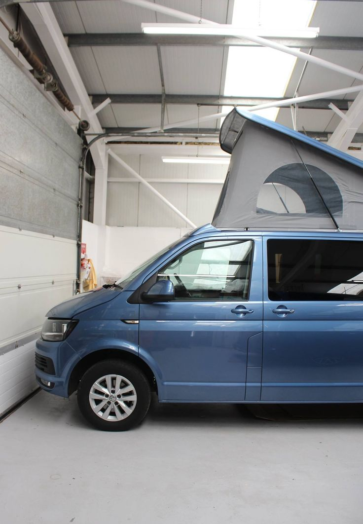 VW T6 Acapulco Blue with the colour coded SCA 192 Pop Top Roof