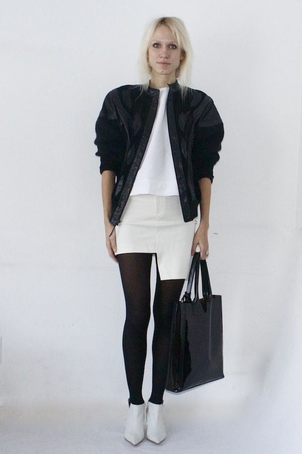 Karina De Jesus in black and white | Fashion Bloggers and Street Styl ...