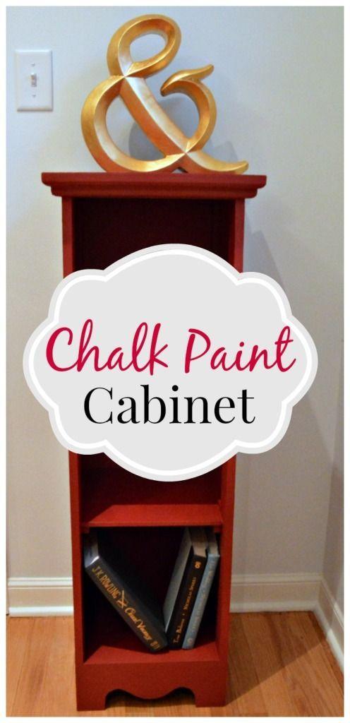 A small cabinet #makeover using chalk paint. #diy chatfieldcourt.com