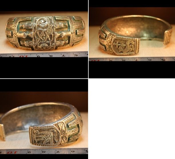 Vikings bracelet of Konung. 10 Century . Silver. Weight: 150 gr. North-West Russia.