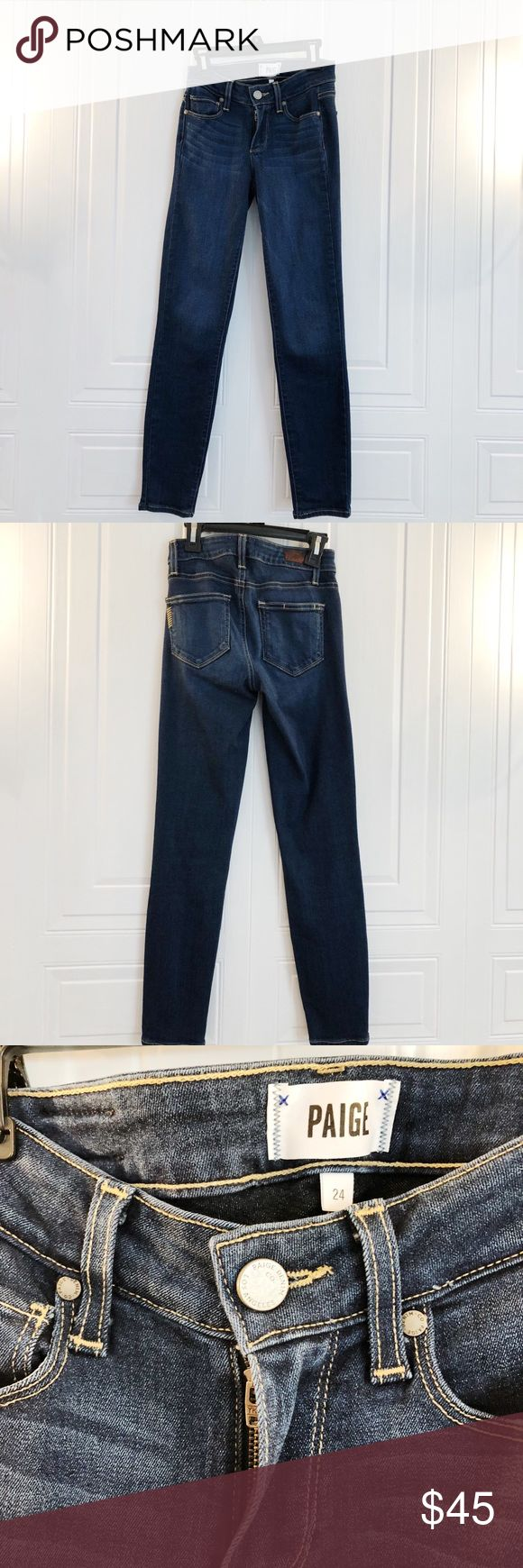 🔥SALE🔥Paige Jeggings Mid-rise, waist 24. Full-leg length for 5'5 woman. Pockets in front and back. From Paige. Never worn. Skinny fit. :) Paige Jeans Pants Skinny