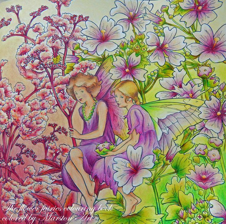 The flower fairies colouring book von Cicely Mary Barker, koloriert von Marston Art