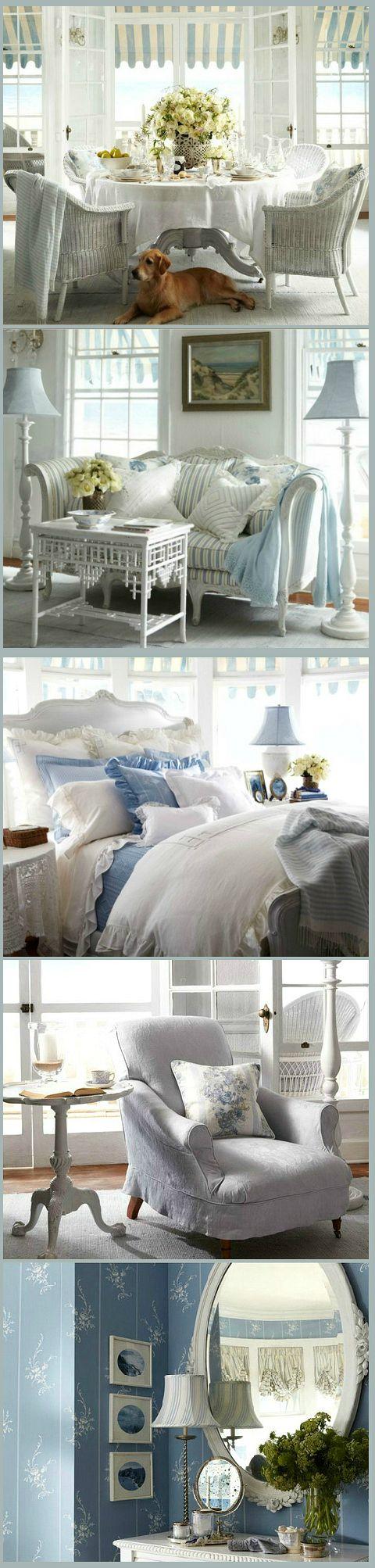 Cottage ● Blue & White Decor-Ralph Lauren