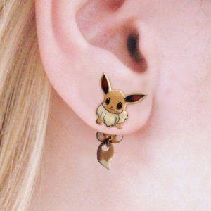 Clinging Eevee Earrings Pokemon Shut Up And Take My Yen : Anime & Gaming Merchandise