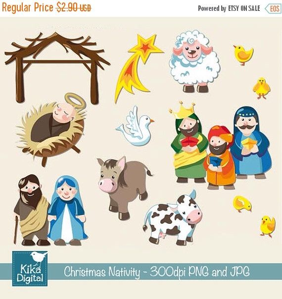 christmas nativity digital clipart   scrapbook card scrapbook clip art free scrapbook clipart wild roots