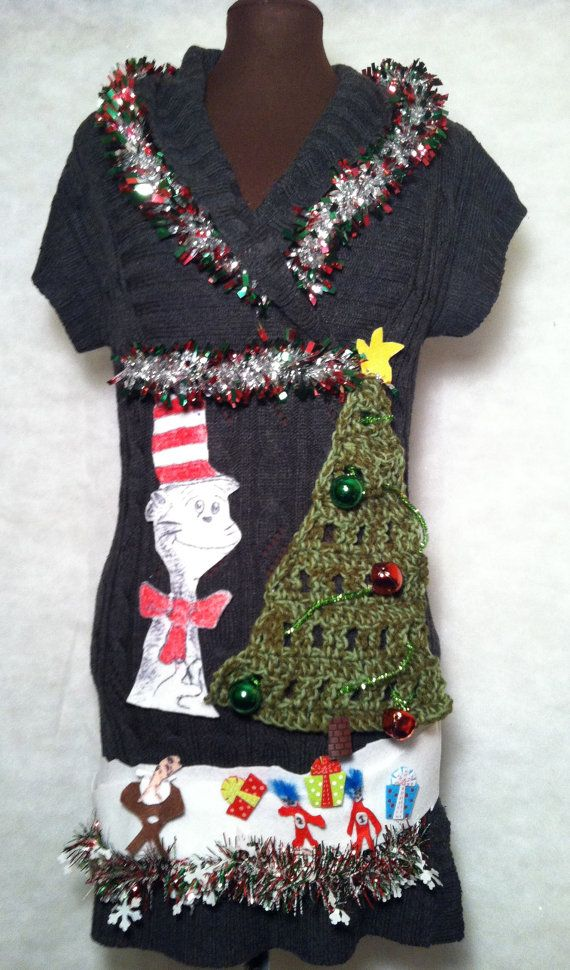 Ugly Christmas Sweater  dress size Large what a by stealofadeal, $56.00