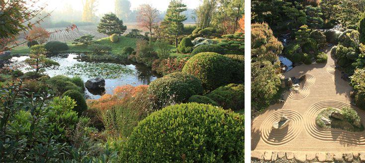 Jardins zen, paysages empruntés, pavillons de thé, lanternes et pagodes: la beauté mystérieuse des jardins japonais a inspiré la création, en France, de nombreux parcs placés sous le signe de l'évasion. Embarquement immédiat!