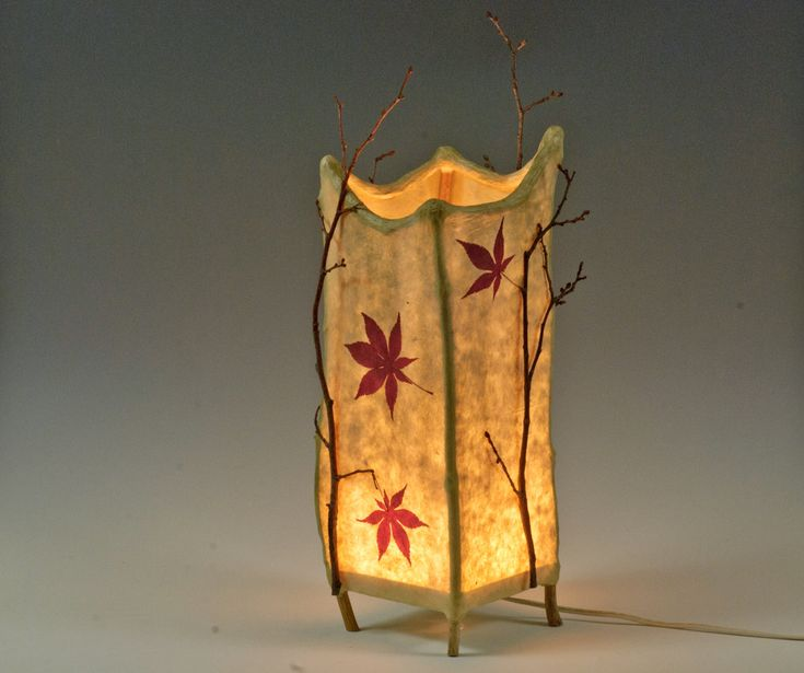 Haiku -- handmade paper and twig lamp. $125.00, via Etsy.