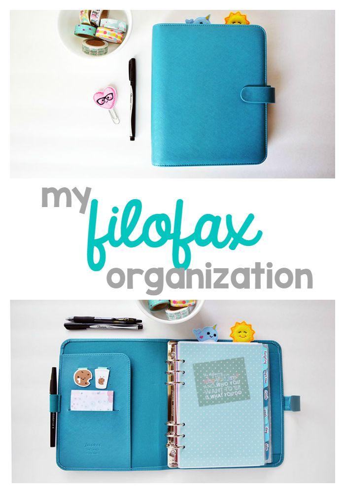Filofax organization a peek inside my A5 aqua saffiano