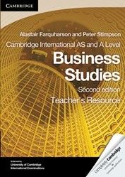 9780521126939, Cambridge International AS and A Level Business Studies Teacher's Resource CD-ROM (Cambridge International Examinations) [CD-ROM] A new edition that matches the content of the 2012 Cambridge syllabus. The Cambridge International AS and A Level Business Studies Teacher's Resource CD-ROM is a new resource that accompanies the Coursebook with CD-ROM. It features answers to key activities in the Coursebook as well as sample essay questions and further reading ideas.