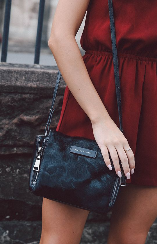 Status Anxiety The Ascendants Bag - Black Fur from Ruby Six, NZ
