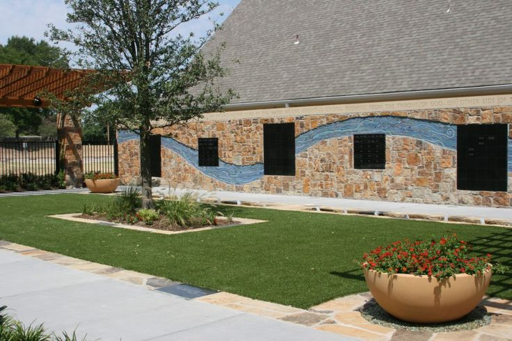 """Trinity's Celebration Garden and Columbarium is a modern, green alternative to cemeteries that have historically been a integral element of Church sites. As a """"Certified Earth Care"""" congregation, Trinity's Garden is just one of the Church's green initiatives."""
