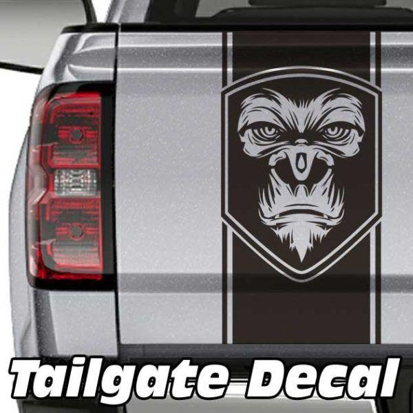 Gorilla Truck Tailgate Decal