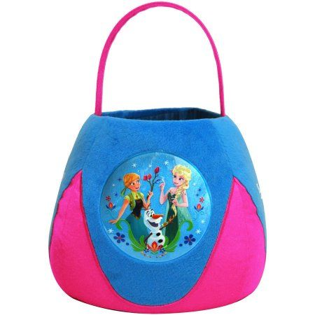 Frozen Medium Plush Basket, Blue