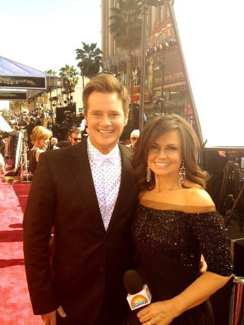 Lisa Wilkinson of Channel 9's Today Show on the Red Carpet, looking incredible in her Pallas Couture gown at The Oscars 2013 - 85th Academy Awards - http://pallascouture.com/blog/wedding-events/pallas-dresses-lisa-wilkinson-at-the-oscars/