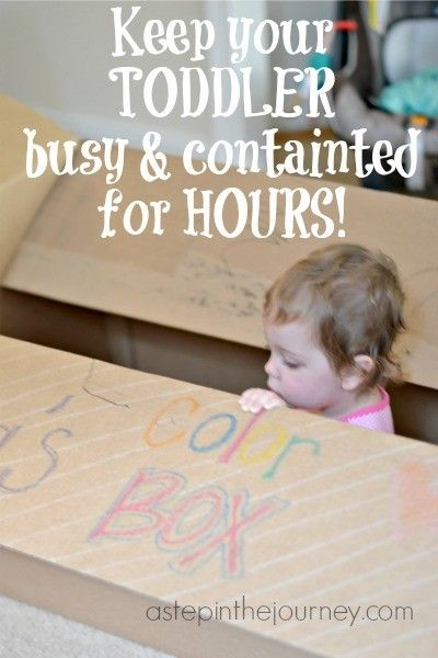 Keep Your Toddler busy and contained for hours with this simple idea!