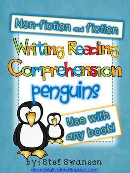 Writing/Reading Comprehension {All about PENGUINS} Research Informational Text   Reading comprehension activities and writing in kindergarten! Use this packet with ANY fiction or non-fiction PENGUIN book you are reading in your classroom!  dreambigkinders.blogspot.com