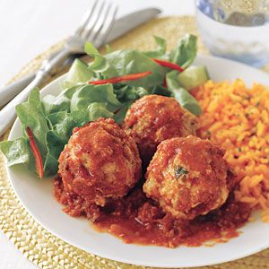 These versatile meatballs have so many serving possibilities. Dunk the meatballs into extra tomato sauce with a toothpick for an easy appetizer, stuff into a hoagie roll and top with cheese for a hearty sandwich, or top on spaghetti noodles for a quick weeknight dinner.