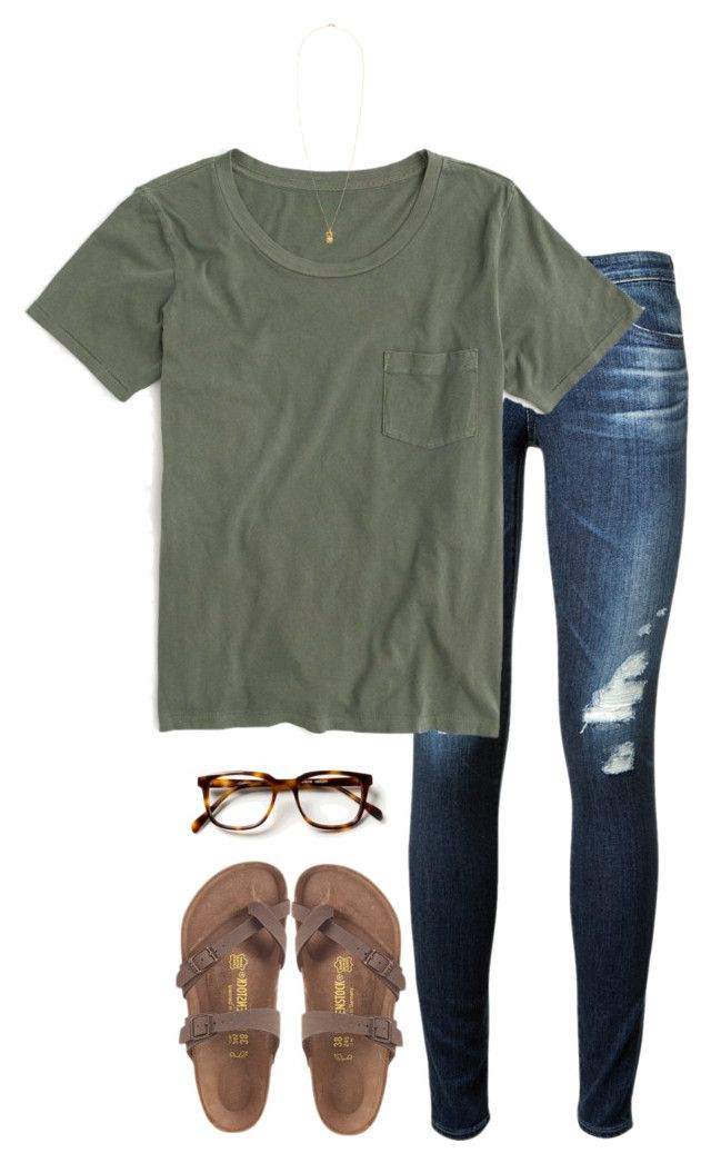 """""""pineapple"""" by tessorastefan ❤ liked on Polyvore featuring AG Adriano Goldschmied, J.Crew, H&M, women's clothing, women, female, woman, misses and juniors"""