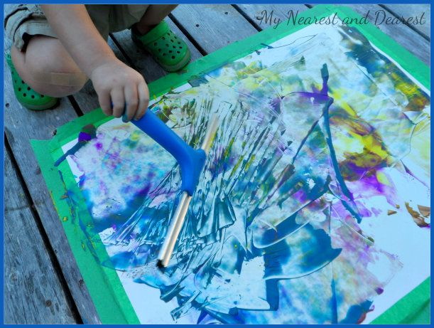 """Painting with a squeegee from My Nearest and Dearest ("""",)"""