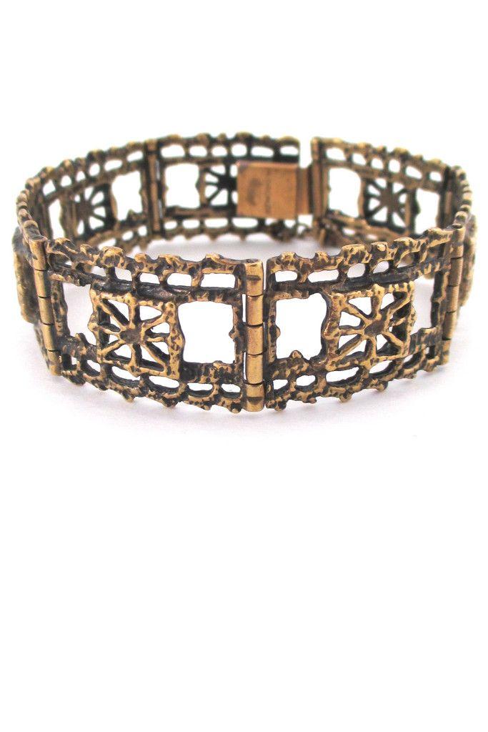 Pentti Sarpanvea 'Pitsi' bronze bracelet