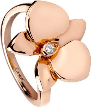 Bague Caresse d'Orchidées par Cartier Or rose, diamant