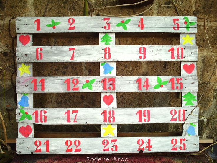 Christmas Advent Calendar  #Christmas, #Decoration, #DIY, #Pallet