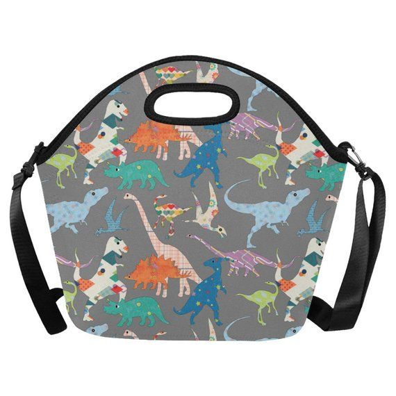 cf2a902d216b toddler boy's Lunch Bag Insulated Lunch Tote dinosaur Lunch Box ...