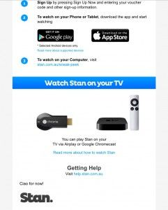 Stan TV and movie streaming service opens up trial ahead of launch.  Stan, the new streaming television and movie service with a friendly name from StreamCo – itself a partnership between Fairfax and Nine Entertainment Co – is nearing launch. [READ MORE HERE]