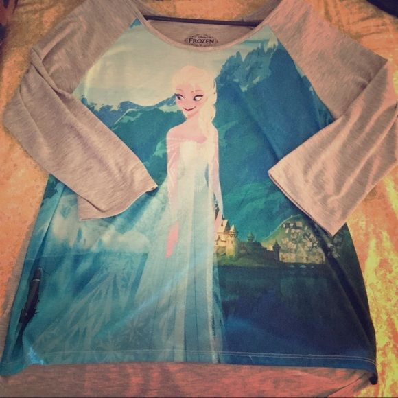 Cute Frozen Shirt The cold never bothered me anyways... ❄️ Bought from DisneyLand! Disney Tops Tees - Long Sl