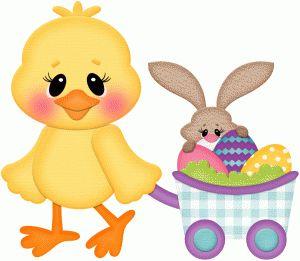 STINKIN Diseño # 76591: pollito de Pascua w carro