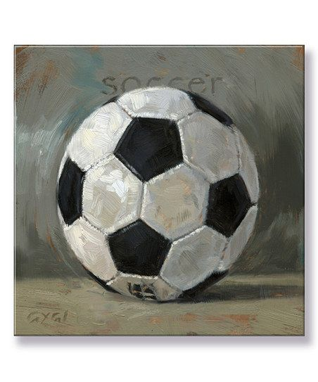 Darren Gygi Home Collection Soccer Ball Giclee Gallery-Wrapped Canvas | zulily