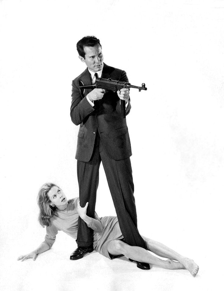 Elizabeth Montgomery, Henry Silva / publicity photo for William Asher's Johnny Cool (1963)