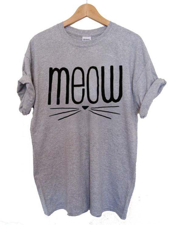 meow cute T Shirt Size XS,S,M,L,XL,2XL,3XL
