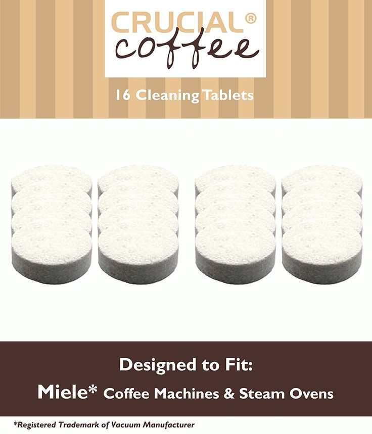 16 miele coffee and espresso machine cleaning tablets