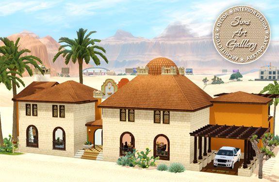 Villa Casablanca http://www.sims-artgallery.net/en/gallery/sims-3/lots/residential-lots/small/1469/