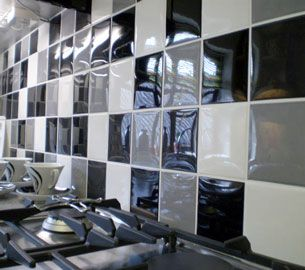 The Rocoso Range Of Ceramic Wall Tiles Has A High Gloss Bumpy Effect Finish That Kitchen Wall Tilesceramic Wall Tilesblack White