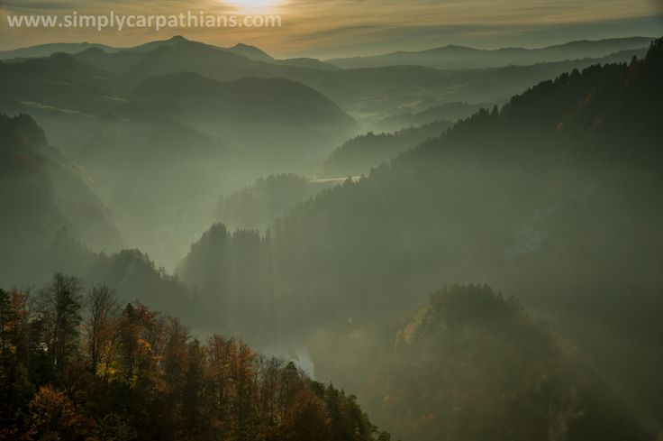 Morning in the Pieniny Mountains.