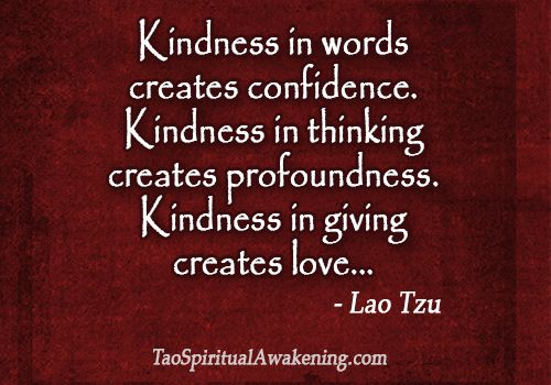Kindness In Words Creates Confidence