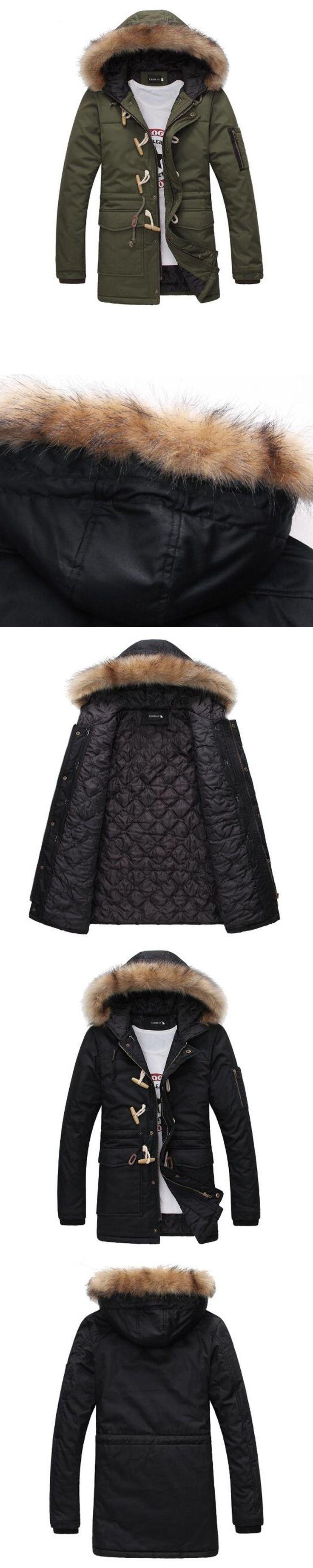New Sale Winter Down Cotton Jacket Men Fashion Nagymaros Collar Coats Overcoat Men'S Thick Warm Winter Down Parkas #Down&Parkas