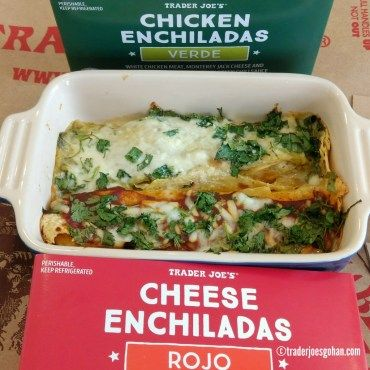 Trader Joe's Enchilada Chicken Verde $6.99 | Cheese Enchiladas Rojo $6.49 | #TraderJoes #Enchilada #Chicken #Verde  #トレジョ #エンチラーダ   #Cheese #rojo